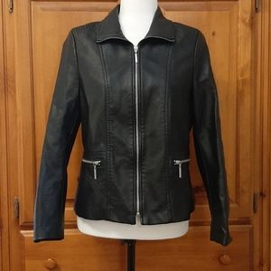 TanJay Faux Leather Jacket